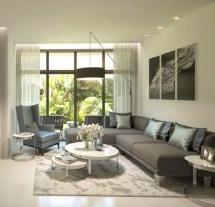 Aurum Villas - Damac, Dubai Imóvel Exterior - Vista Decorado Sala