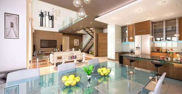 Sobha Hartland MBR Apartamentos - Vista Interna 2