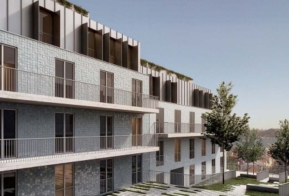 HC Imovel em Lisboa Portugal - Unique Belem - Condominio Fechado - Fachada Interior